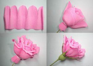 Роза из бумаги своими руками схемы поэтапно фото 750