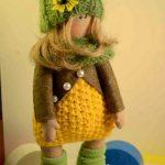Текстильная кукла ручной работы Маша