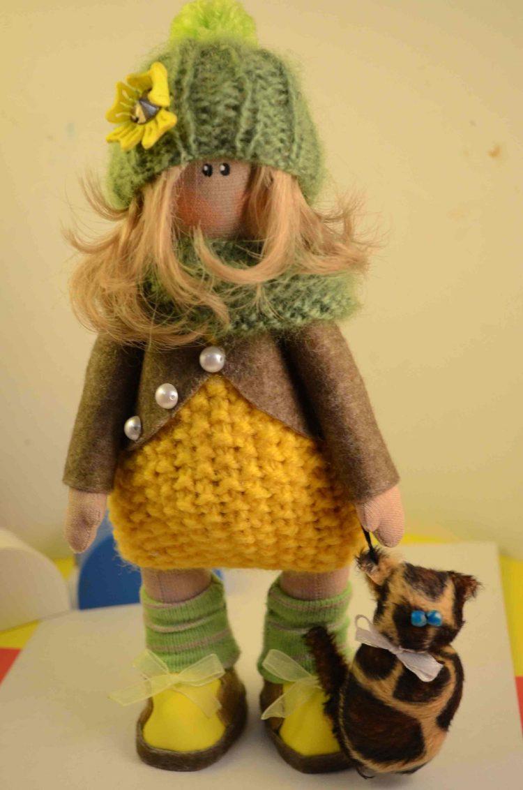 текстильная кукла ручной работы фото