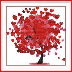 Красивая вышивка ко дню Святого Валентина