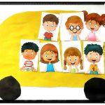 Аппликации с детьми автобус
