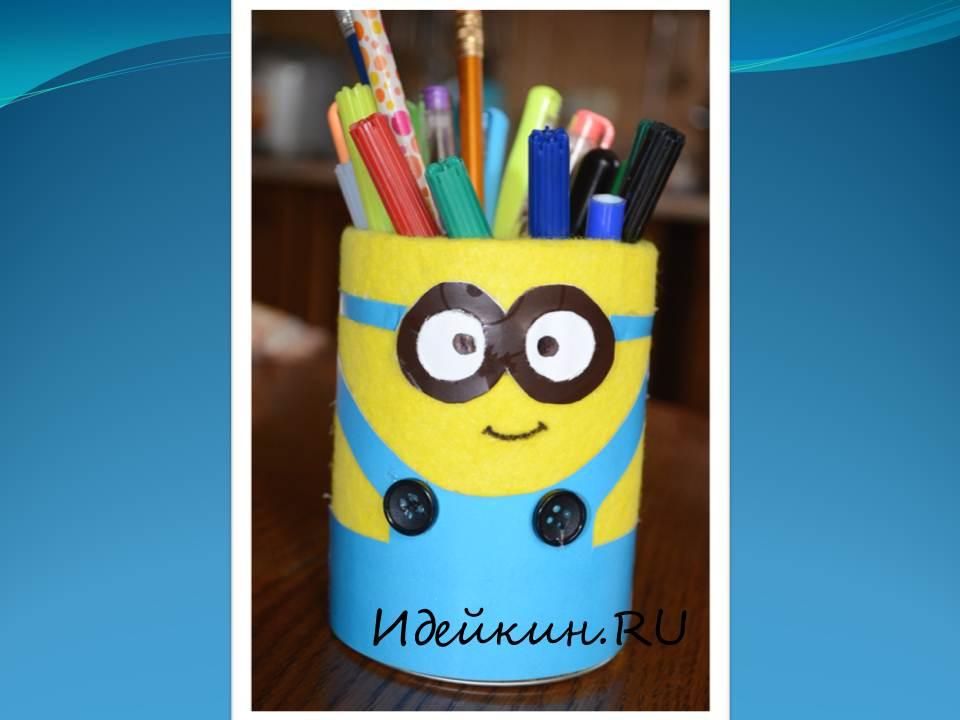Как сделать подставку для карандашей своими руками