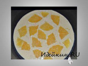 Тесто с апельсином, шарлотка