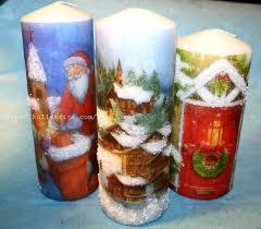 декупаж на свече