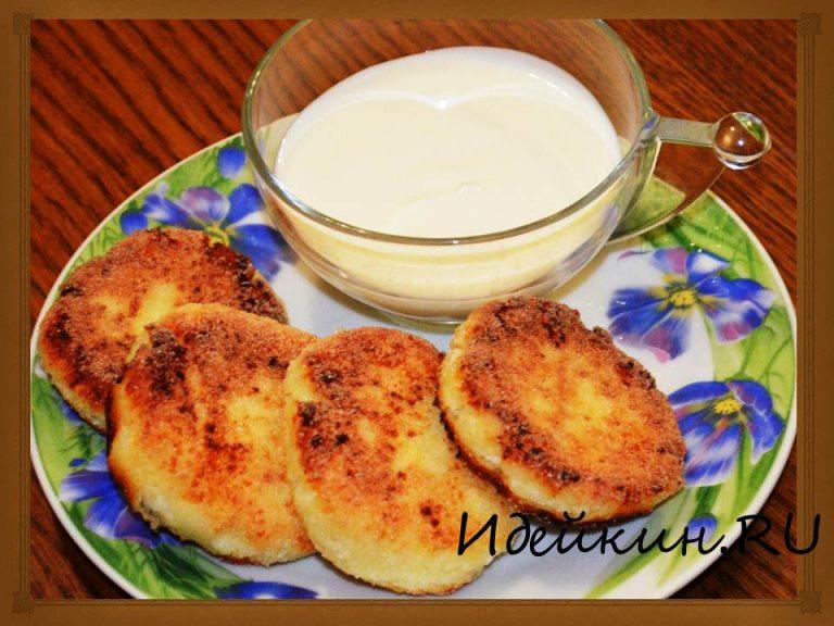 Пошаговый рецепт сырников из творога с манкой с