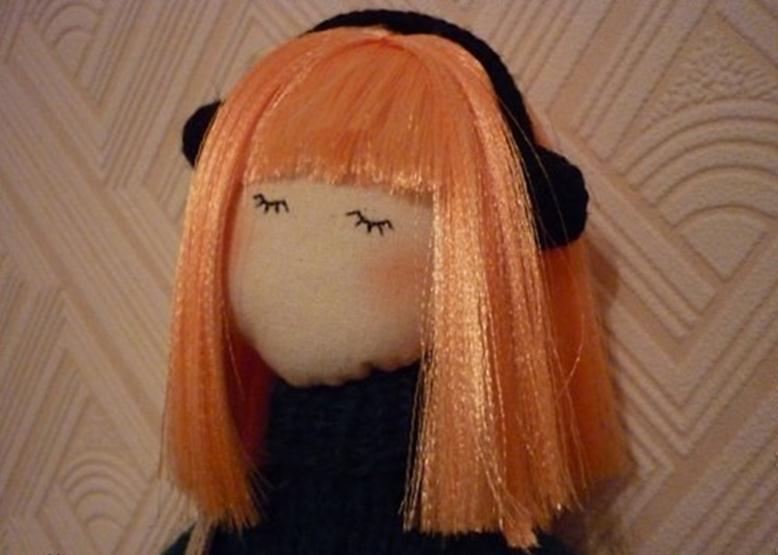Кукла волосы сделать