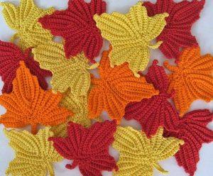 Схемы листьев связанных крючком