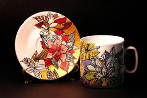 декупаж на керамике