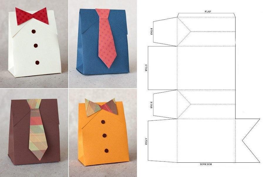 Большая коробка своими руками из бумаги