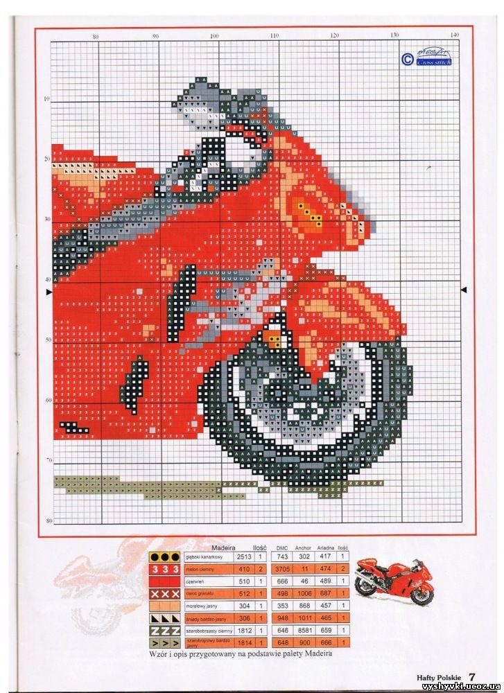 Схемы вышивки крестом мотоциклы