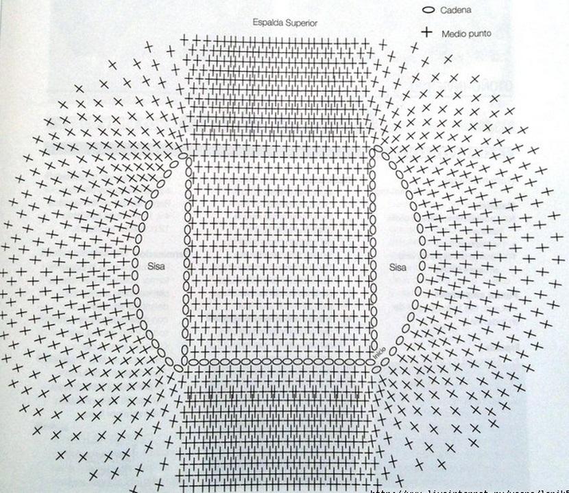 Вязанный болеро крючком схемы