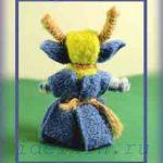 Коза рогатая вепсская кукла — оберег своими руками