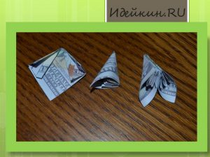 Цветы из модулей оригами схема