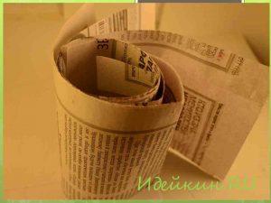 Корзинки из газетных трубочек