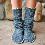 Уютные носочки из старого свитера