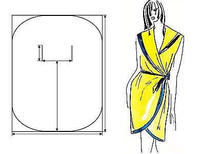 летний халат выкройка