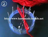 2 Начало плетения цветка