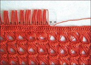 вязание на линейке брумстик