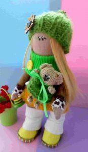 Текстильные куклы ручной работы фото