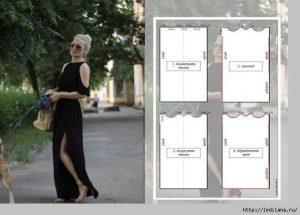 трикотажное платье без выкройки