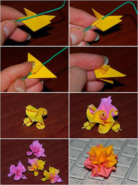 Сделать поделку красивую из бумаги