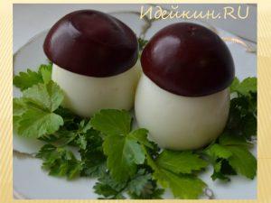 украшения из яиц для салатов