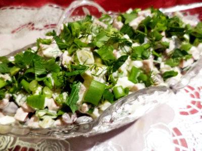 Салат с отварной фасолью рецепт