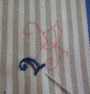 Вышивка монограммы