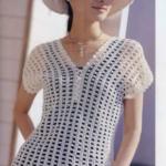 Летняя женская блузка крючком