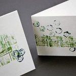 Как сделать открытку с помощью самодельных штампов