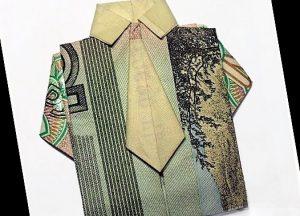 мужская рубашка из денег