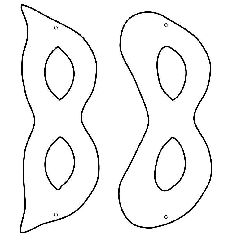 шаблон маски