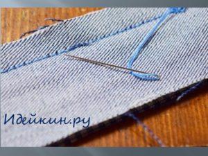 Шкатулка из джинсовой ткани