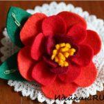Цветок из фетра «Камелия»