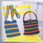 Женские сумки цветные крючком