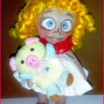 Текстильная кукла фото — задорная Алька