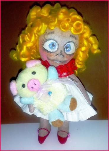 Текстильная кукла фото