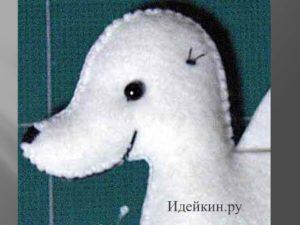 Собачка - кошелек из фетра