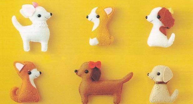 Собаки из фетра шаблон