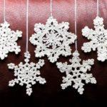 Красивые снежинки крючком схемы