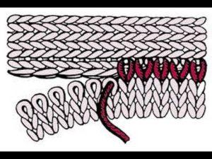 Теплый шарф – снуд с объёмной косой