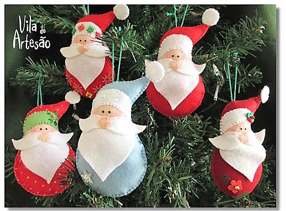 Елочная игрушка - Дед Мороз из фетра