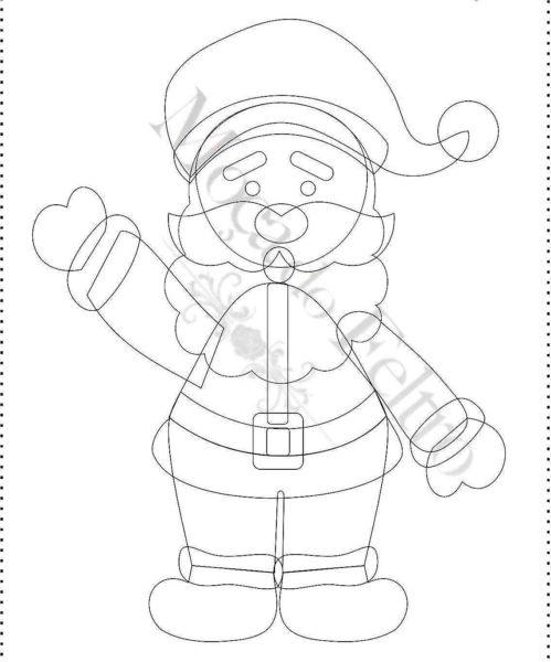 Дед мороз из фетра своими руками выкройки