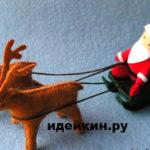 Дед Мороз из фетра выкройка