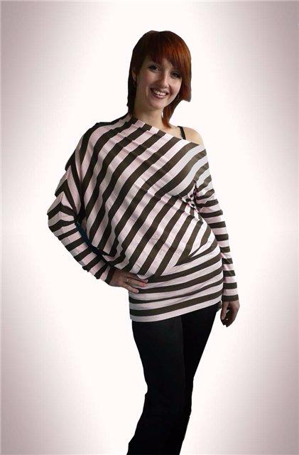 Асимметричный пуловер выкройка