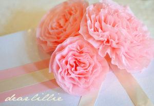 Цветы из гофрированной бумаги пошагово