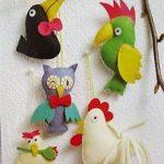 Птички из фетра выкройки