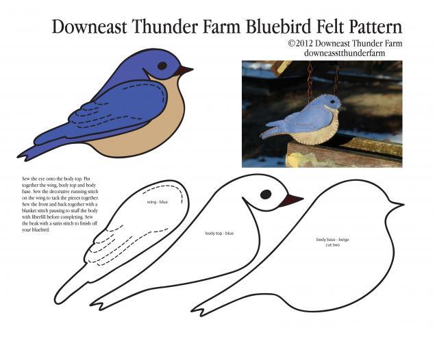 Птички из фетра своими руками схемы шаблоны