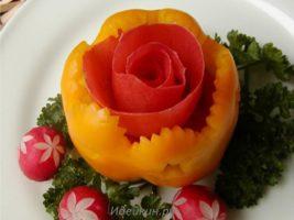 Простые украшения из овощей