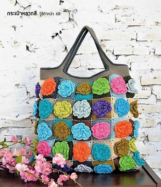 Вязаные сумки крючком летние-шоппер
